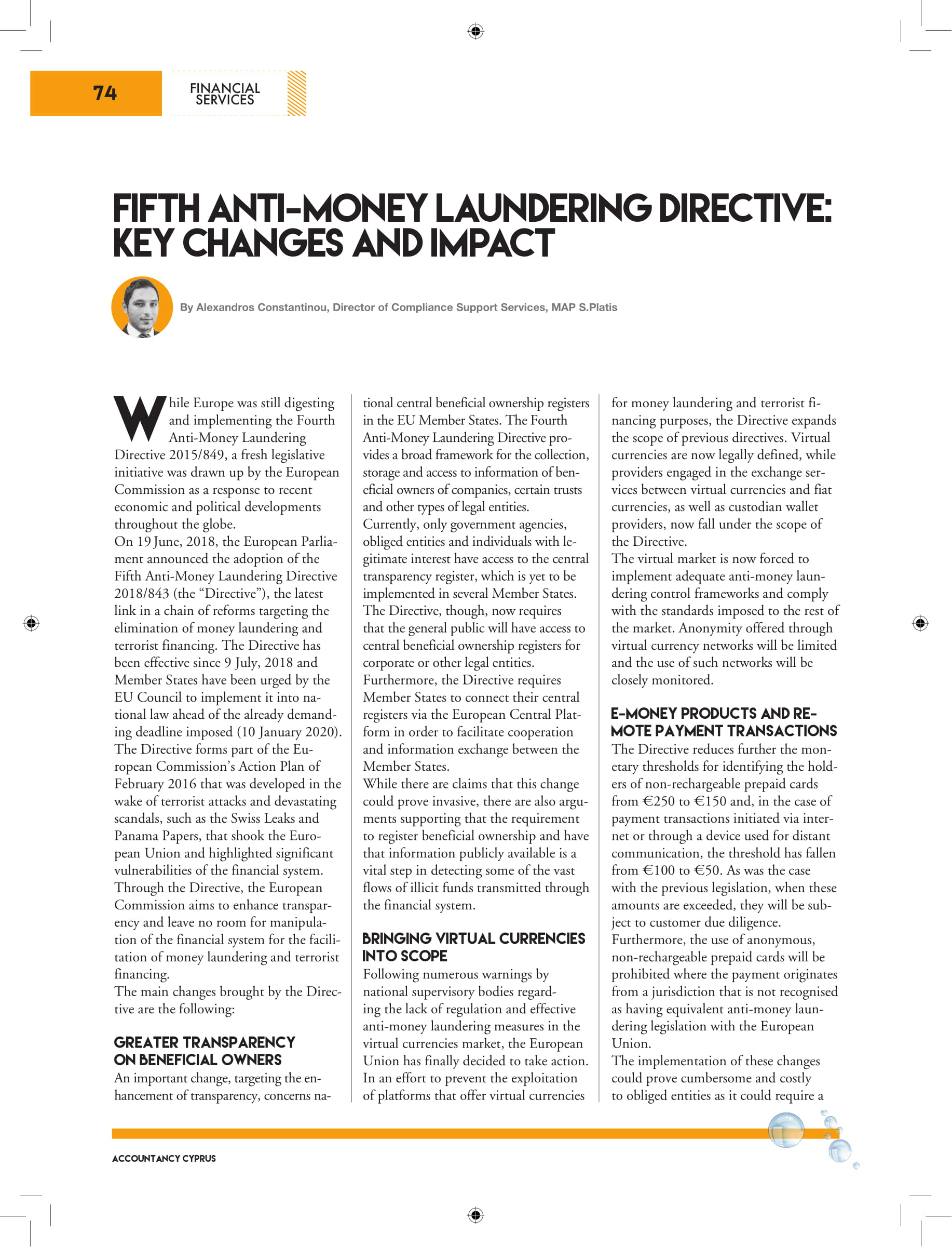Fifth anti money laundering directive cryptocurrency